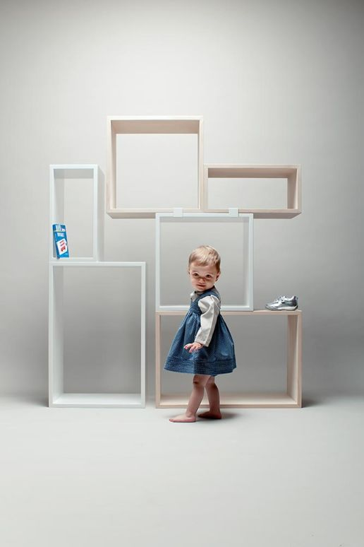 toddler in front of self