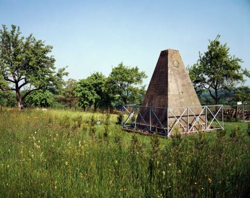 pyramid shape memorial in Alsace France