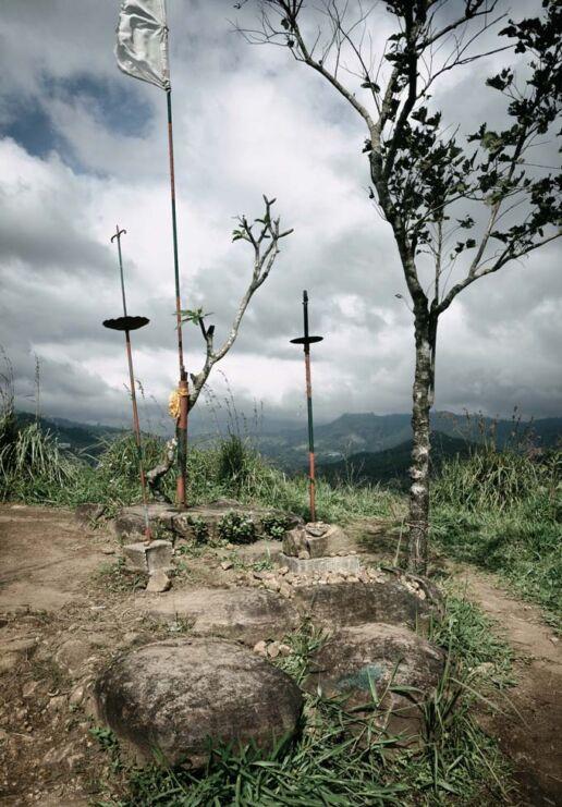 ritual spot on hill near Ella