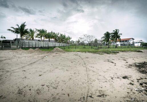 fence around beach resort