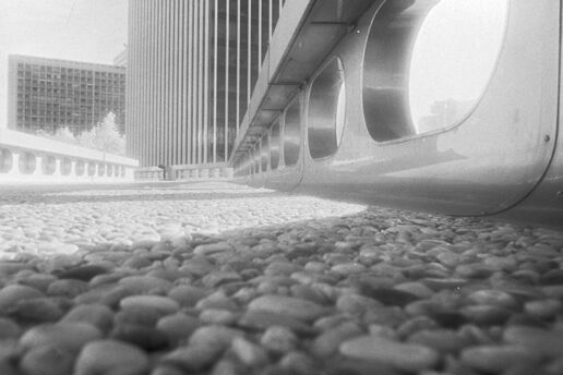 low angle infrared images of administration and office buildings in Lyon France